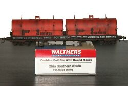 Walthers Cushion Coil Car Round Hoods Ohio Southern Os 9788 Weathered