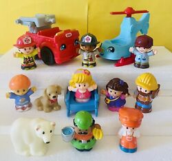 FISHER PRICE LITTLE PEOPLE BIG LOT OF FIGURES Toys Pilot Fireman Zoo Set