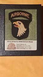 Investment Grade Wwii 101st Airborne British-made B1 Patch D-day