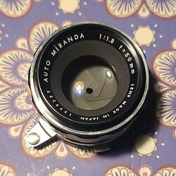Miranda 50mm f1.8 Auto Lens 50 1.8 with front and rear cap $15.50