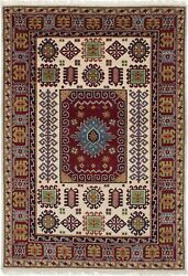 Vintage Hand-knotted Carpet 5and0394 X 7and0397 Traditional Oriental Wool Area Rug