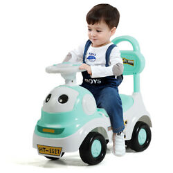 3 In 1 Baby Walker Sliding Car Pushing Cart Toddler Riding Toy With Sound Green