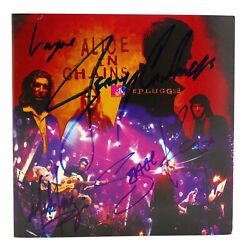 Layne Staley Jerry Cantrell Mike Inez Sean Kinney Signed Alice In Chains Unplugg