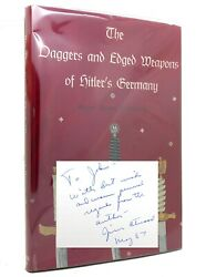 Major James P. Atwood The Daggers And Edged Weapons Of Hitlerand039s Germany Signed 1