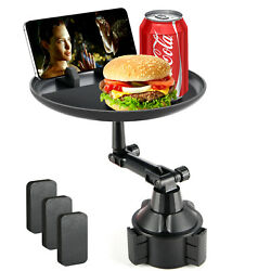 Car Cup Holder Tray, Car Tray Table For Eating With Cell Phone Slot Lap