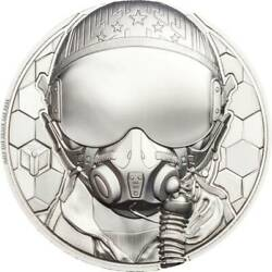 Fighter Pilot Real Heroes 2020 1 Oz Pure Platanium Proof Coin - Cook Islands