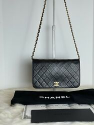 Chanel Vintage Black Quilted Wallet On Chain amp; Certificate Of Authenticity $3025.00