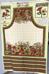 """""""Harvest Home"""" Fabric Apron Panel by Robin Betterley"""