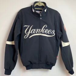 New York Ny Yankees Men's Small Majestic Therma Base Fleece Lined Dugout Jacket