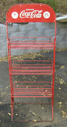 1940's General Store Coca Cola Bottle Display Stand Doublesided