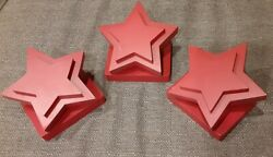 Pottery Barn Kids Rare Red Star Quilt Clips Lot Of 3 - Clamp Style From 2009