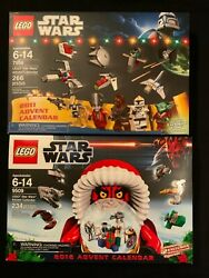 2 Lego Sets Star Wars Christmas Advent Calendar 7958 And 9509 Retired Rare New