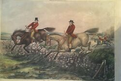 Henry Thomas Alken's Original Lithograph Of Hunting The Right And The Bad Sort