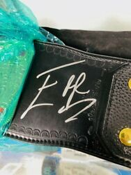 Edge Rated R Superstar Autographed W/coa Gold Championship Belt