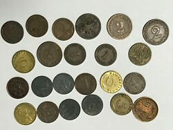 23 Pcs Of Old German Coins Some Nazi Coins 125 Pfennig