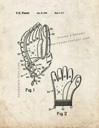 Ice Hockey Glove With Removable Palm Patent Print Old Look