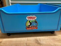 One1 Thomas And Friends Wooden Railway Storage Drawer Wheels Trundle Train Table