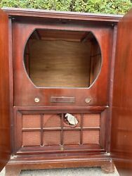 Gutted 1950s Emerson Televison Tv Console Standing Console