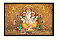 Shree Ganesh Sparkle Print Wall Sticker Poster Without Frame 20 X 28 Inches
