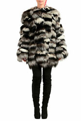 Victor And Rolf Women's Silver Fox Fur Coat Us S It 40