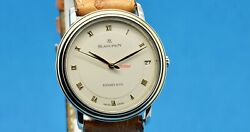 Blancpain Villaret Ultraplate 18k/ss Automatic Date Double Signed Watch