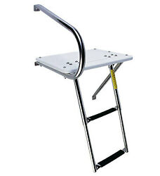 Garelick 2 Step Outboard Transom Platform And Telescoping Boat Ladder