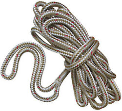 New England Ropes Double Braided Dockline Braided Dock Line Color White, Size