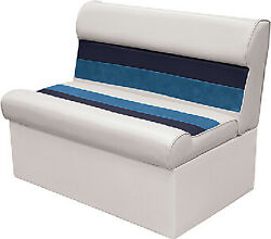 Wise 8wd100 - Deluxe Pontoon 37 Lounge Seats Color White/navy/blue