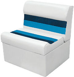 Wise 8wd95 - Deluxe Pontoon 28 Lounge Seats Color White/navy/blue