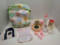 1983 Cabbage Patch Kid Doll Diaper Bag And Accessories Baby Shoes Beach Bag T7