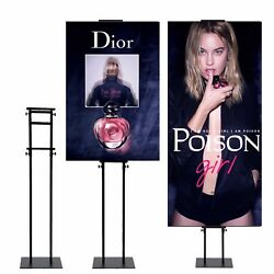5 Pack,sign Holder Pedestal Poster Stand Height Adjustable Up To 82 Inches