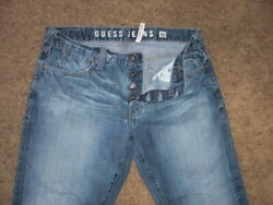 Guess Falcon Style Button Fly Boot Cut Denim Jeans 36x30 Measures 36x28