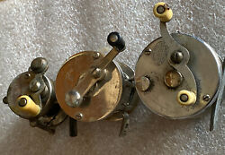 Vintage Slot Of Three Fishing Reels South Bend Shakespeare And A Smaller One