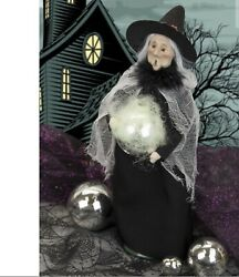 Byers Choice 2021 Halloween Witch With Ball Limited Edition Caroler