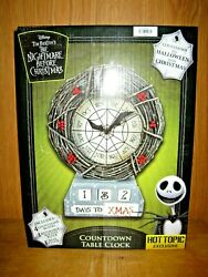 Disneyand039s The Nightmare Before Christmas Countdown Table Clock Hot Topic New Box