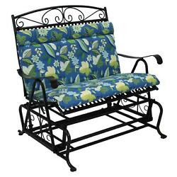 Oudoor Loveseat Glider Cushion 1 Piece Seat And Back Skyworks Caribbean