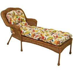 74-inch By 19-inch U-shaped Outdoor Tufted Chaise Lounge Cushion Skyworks Multi