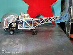 Vintage Helicopter Police L-36 Toy Lyra Greece Large Battery Oper. For Parts