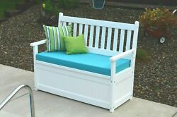 Outdoor-poly 4 Foot Storage Bench- Recycled Plastic- Made In Usa-multiple Colors