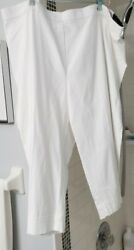 Nwt Alfred Dunner White Capri Pants Size 24w Los Cabos 2018 Group