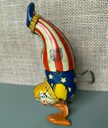 Vintage J. Chein Wind Up Clown, Stands On Hands And Walks Wiggles Working 5