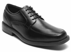 Man#x27;s Rockport Apron Toe Style Black Leader Shoes A13013 New in Box Size 9.5W