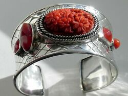 ✨epic✨ 83g Sterling Silver Amy Kahn Russell 925 Akr China Cuff Bangle Bracelet