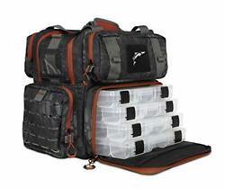 Ego Kryptek Tackle Box Fishing Pack With 4 Accessory Trays Water Resistant Pvc