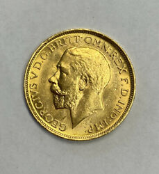 Australia 1918-s Gold Sovereign Lustrous Strong Strike, Uncirculated Unc
