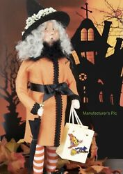 Byers Choice Caroler 2021 Witch With Brolly Umbrella New
