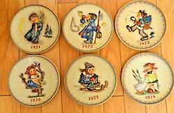 1971-1976 Annual M. J. Hummel Collector Plates With Original Boxes