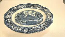 Staffordshire Liberty Blue 12 Oval Serving Platter - Made In England Nice