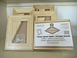 5 Home Depot Hero Kids Picture Frames. 9x7. Wood With Hardware/stands.