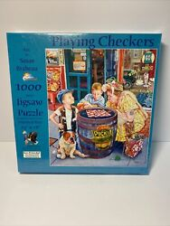 New Puzzle Art By Susan Brabeau 1000 Piece Jigsaw Playing Checkers Sealed